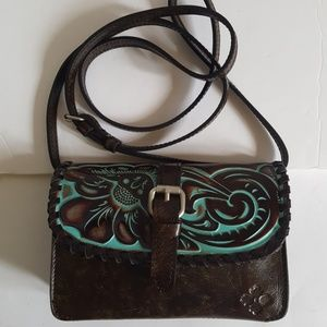 NWT Patricia Nash Leather Turquoise Crossbody Bag
